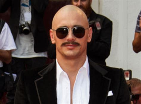 celebrities having moustaches with bald head woah james franco movember our favourite celebrity