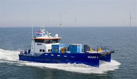boat supplies amsterdam 26 m length high speed catamaran 2610 for offshore wind