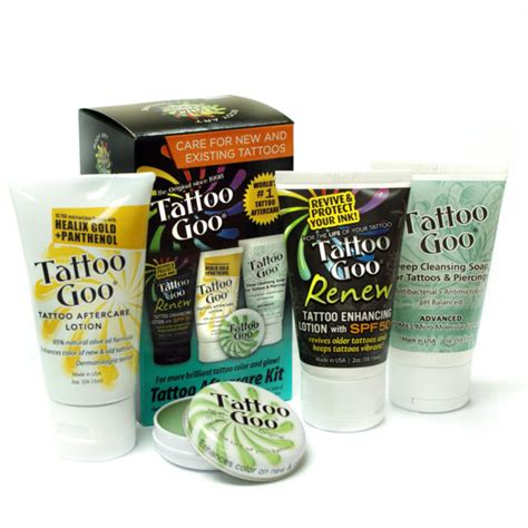 good tattoo care products tattoo goo 174 complete tattoo aftercare kit numbcare com