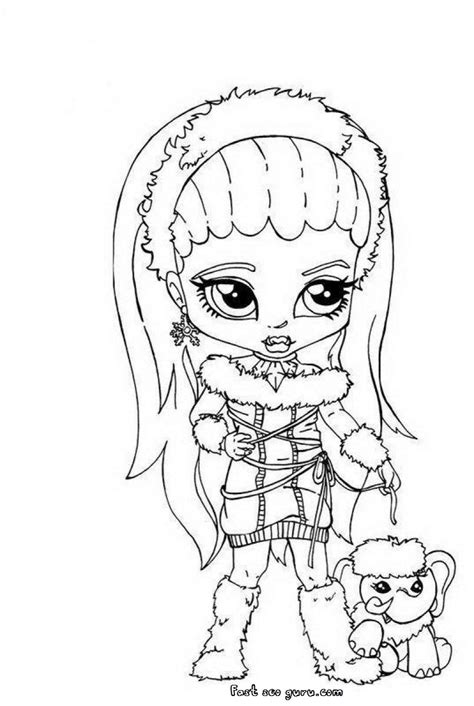 little monster high coloring pages abbey bominable little girl monster high coloring page
