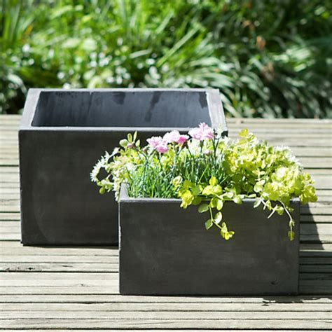 Outdoor Square Planters by Low Fiberclay Square Planter Modern Outdoor Pots And