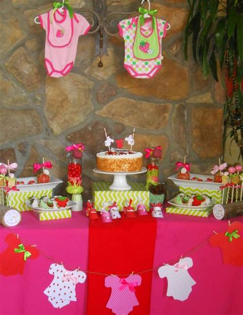 Baby Shower Strawberries by Strawberry Theme Baby Shower Ideas Clotheslines