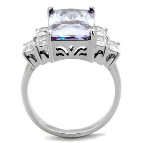 cje1904 light amethyst cz emerald cut cocktail ring