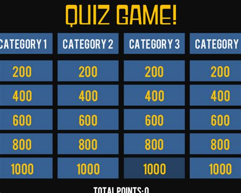 jeopardy template with sound effects storyline 360 quiz show template