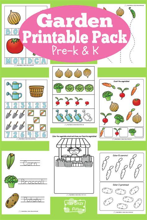 Answer Garden In The Classroom Garden Printable Preschool And Kindergarten Pack Itsy