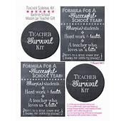5 Best Images Of Teacher Survival Kit Printable Label
