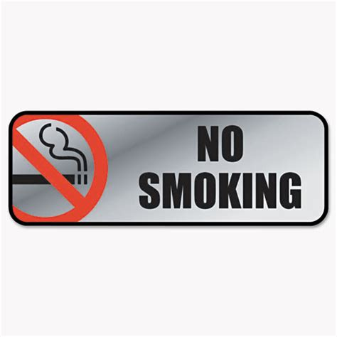 no smoking sign with stand cos098207 cosco brush metal office sign zuma