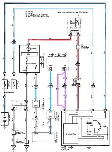 car electrical wiring car electrical lexus alternator wiring