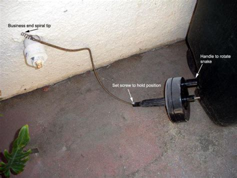 Top Snake Plumbing by Sink Drain Clogged How To Use A Plumber S Snake Dengarden
