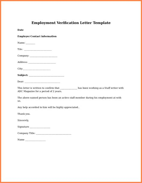 Verification Of Employment Letter Sle Sle Verification Of Employment 500 Years From Now Essay