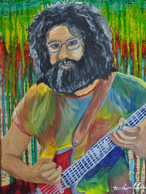 jerry painting jerry garcia by michael
