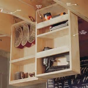 Pull Ceiling Storage by Clever Garage Storage And Organization Ideas Hative