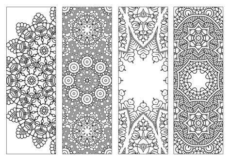 printable doodle bookmarks 4 bookmarks printable intricate mandala coloring pages