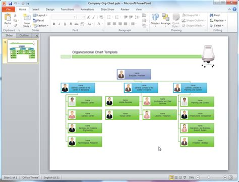 Organizational Chart Templates For Powerpoint Organizational Chart Ppt Template
