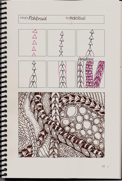 zentangle braid pattern new tangle pattern fohbraid