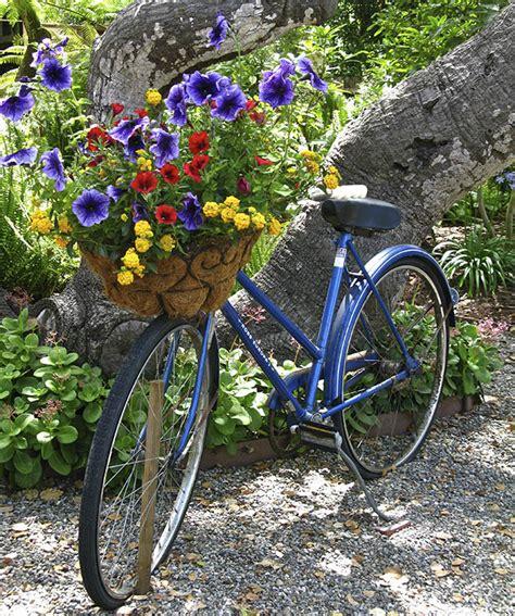 Garden Bike Planter by Bikes In The Garden Upcycle Them