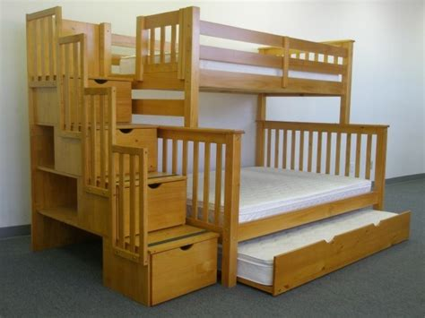 Bunk Bed With Stairs And Trundle Save Big On Stairway Bunk Bed With Trundle Honey