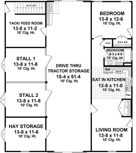 dog kennel floor plans garage barn w apartment plan 141 1300 1 bedrm