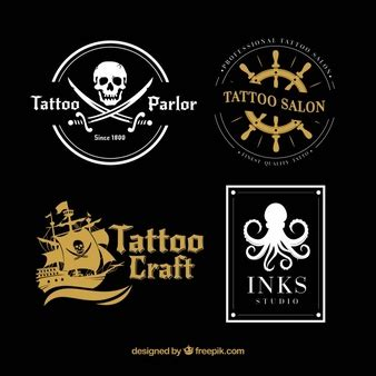tattoo logo design download gold vectors photos and psd files free download