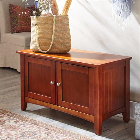 storage bench cherry alaterre furniture cherry storage bench asca0560 the