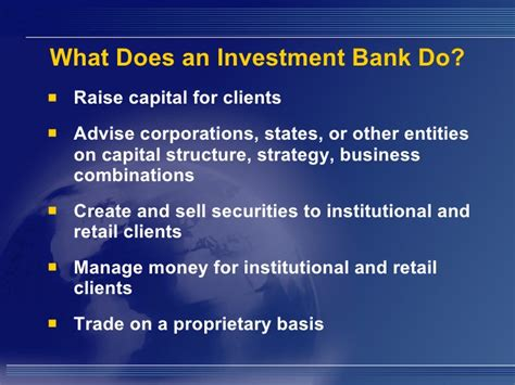 what is a investment banker investment banking overview an introduction to the industry