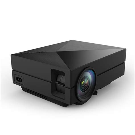 Portable Led Projector 50 Ansi Lumens Interfac Remote Black gm60 portable mini 1000lm home theater 800x480 led lcd