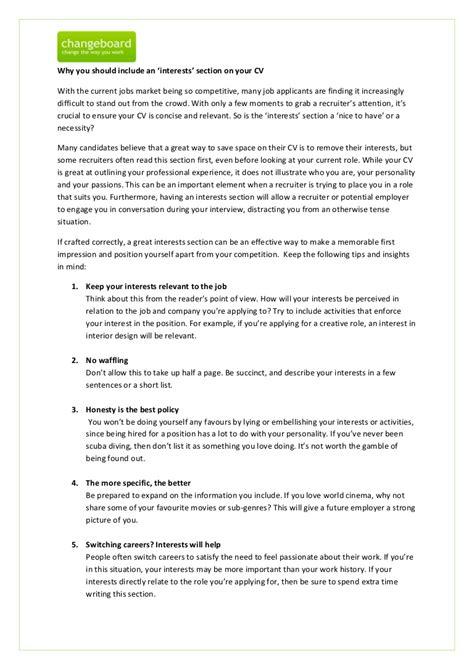 resume summary statement example new interests resume sample