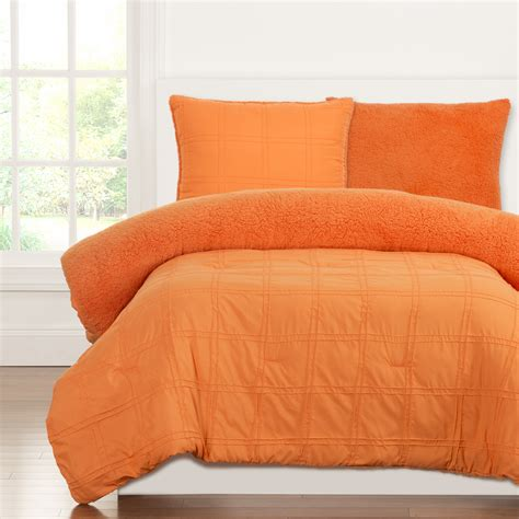 orange comforter playful plush outrageous orange by crayola bedding