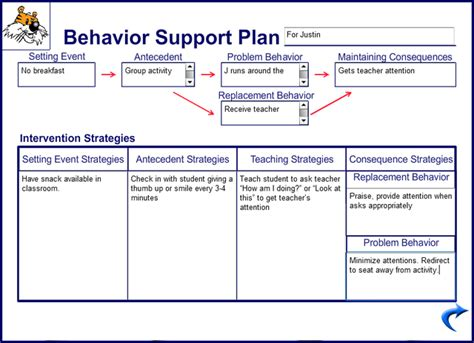 Support Plan Template behavioral management plan template new calendar