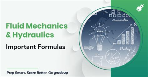 important formulas  fluid mechanics hydraulics