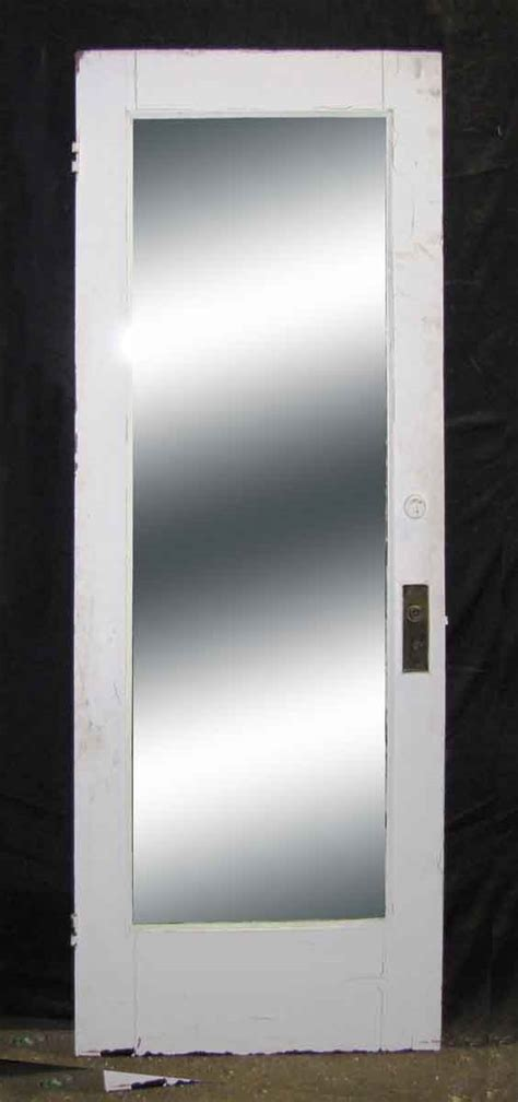 Single Mirror Closet Door by Single Panel Door With Length Mirror Olde Things