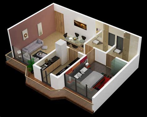 denah apartemen satu kamar tidur dirumahkucom