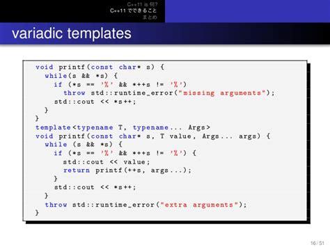 variadic templates more c 11