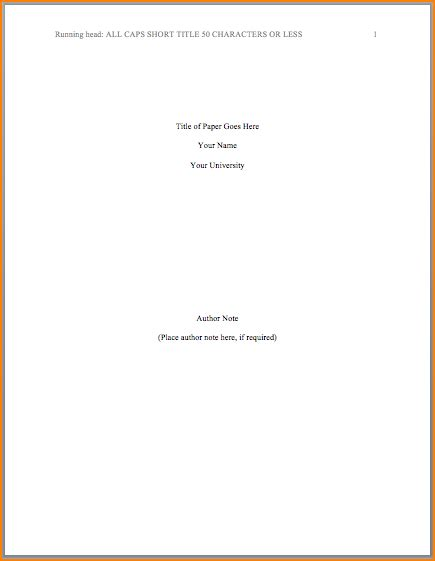 Title Page In Apa Format Template 8 how to do a title page in apa bibliography format