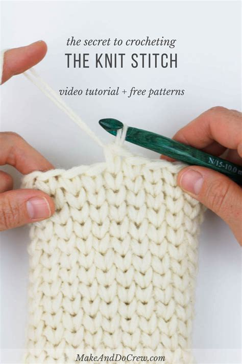 is it easier to knit or crochet how to crochet the knit stitch waistcoat stitch