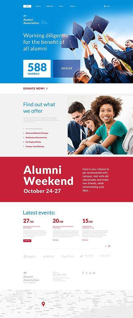 Template 57990 Alumni Association Responsive Website Template Responsive Website Templates Alumni Association Website Templates Free