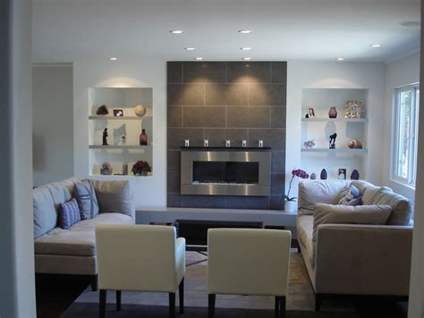 Large Tiles For Living Room by A Clean Living Room Featuring A Wall Mounted