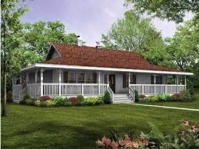 One Story House Plans With Porches Rap All The Way Around Porch Single Story Farm House My