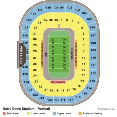 nd stadium seating chart vipseats notre dame stadium tickets