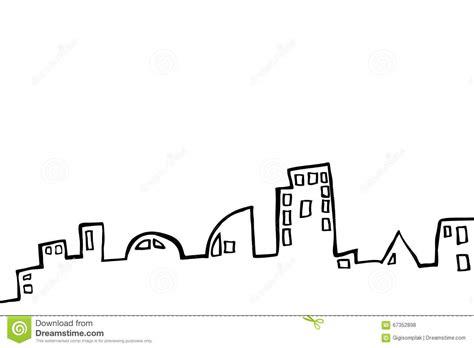 building sketch program draw sketch of outline buildings stock vector image