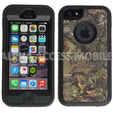 apple iphone    se camo hybrid shockproof armor rugged hard case cover ebay