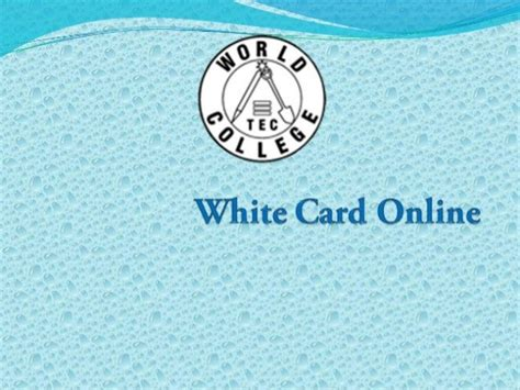 carding online tutorial white card online training white card victoria