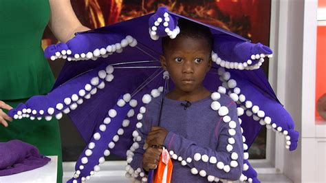 Halloween Decorations You Can Make At Home Diy Halloween Make An Octopus Costume Out Of An Umbrella