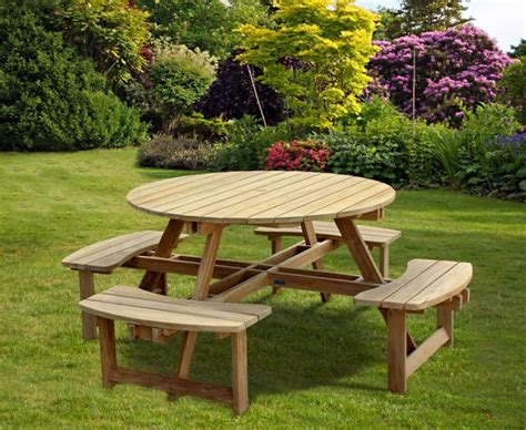 round picnic benches for sale teak round picnic bench circular picnic table