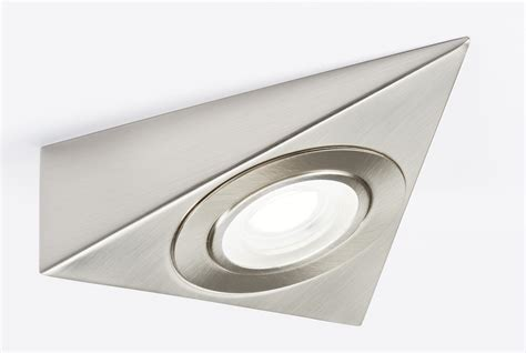 led cabinet lighting 3000k knightsbridge 230v led triangle cabinet light brushed