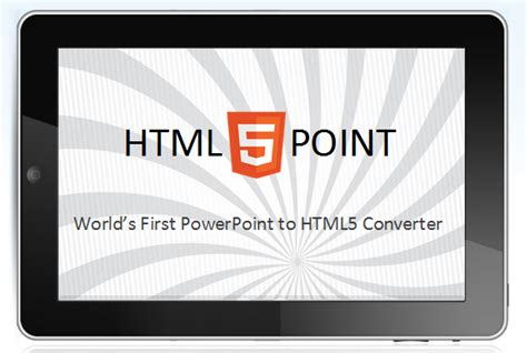html5 tutorial powerpoint method to convert powerpoint to html5