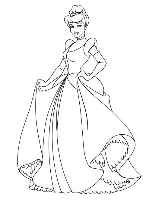 cinderella coloring pages printable free coloring pages