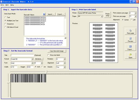 universal label templates for word universal barcode maker