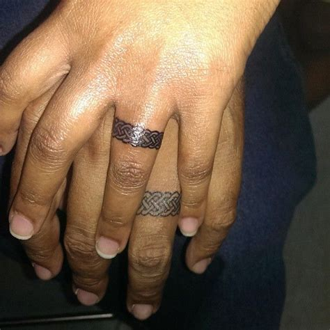 tribal wedding tattoos ring design tattoos ringtattoos tattooswag