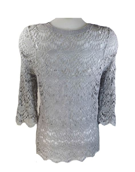 best grey jayley grey vintage lace top